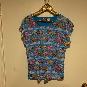 Lisa Frank 2 piece pajama set